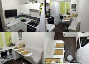 Планировка квадратной маленькой кухни