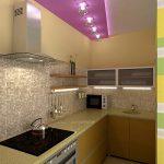 Потолок маленькой кухни