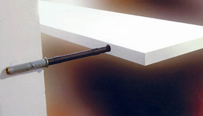 Скрытое крепление полок на стене
