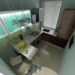 Современный стиль маленькой кухни
