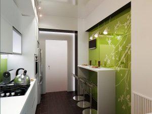 Стены небольшой кухни