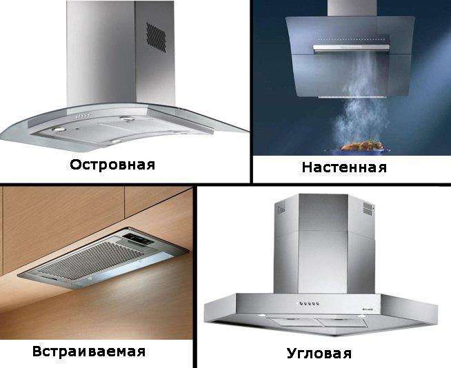 Варианты кухонных вытяжек