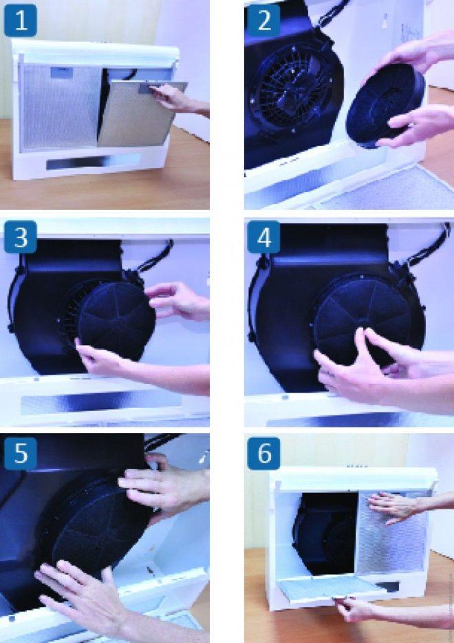 Замена фильтра кухонной вытяжки