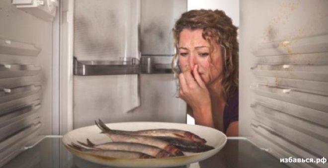 Запах рыбы из холодильника