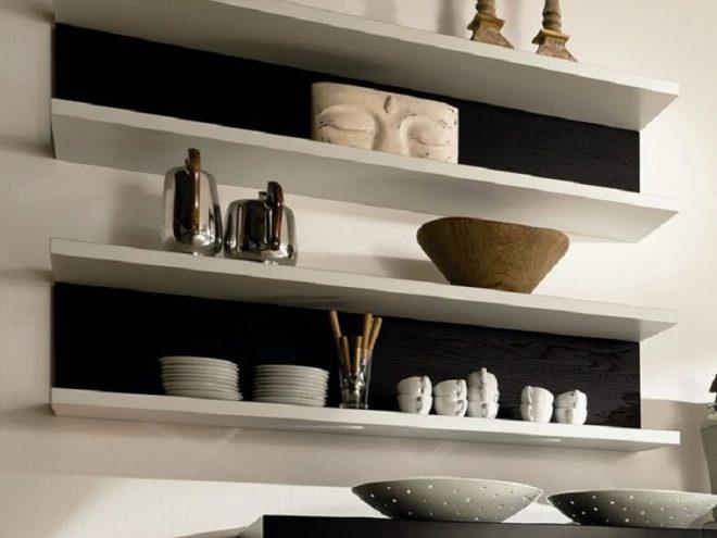 Крепления для полок на стену кухни