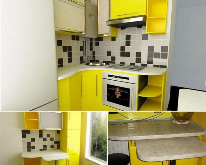 планировка кухни с холодильником фото