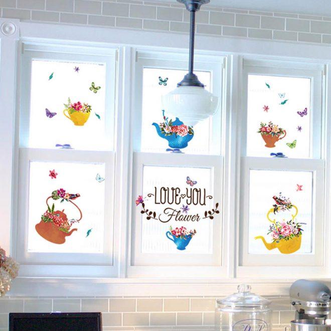 Роспись кухонного окна