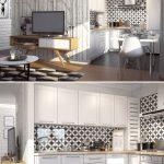 Современный дизайн маленькой кухни