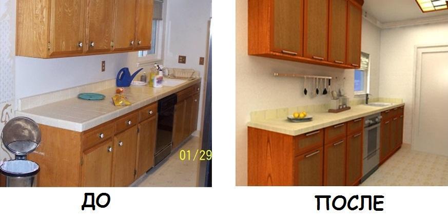 Как покрасить старую кухню своими руками фото