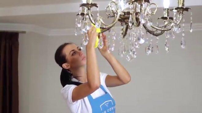 Люстра из хрусталя - как почистить