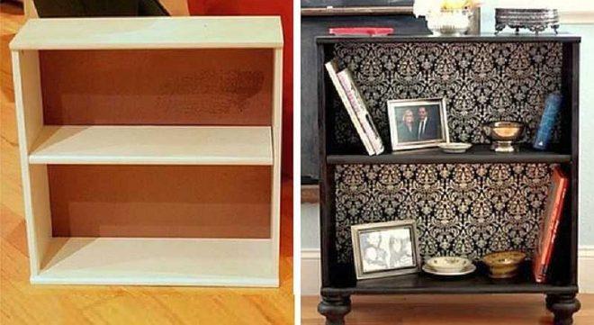 Обклеивание старой мебели пленкой