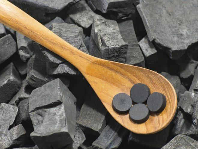 Очищение кастрюли активированным углем