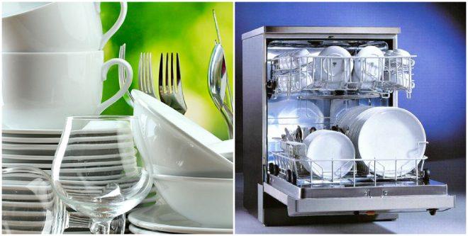 Посуда, вымытая в посудомоечной машине