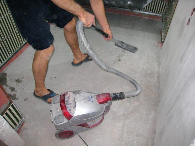 Подготовка бетонного пола для укладки плитки