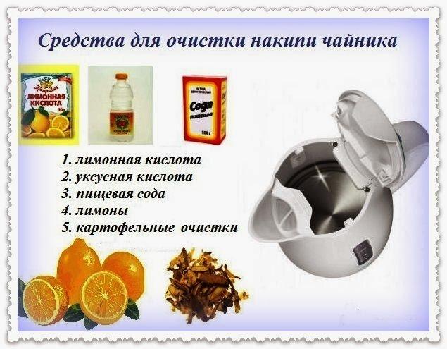 Как очистить чайник народными средствами