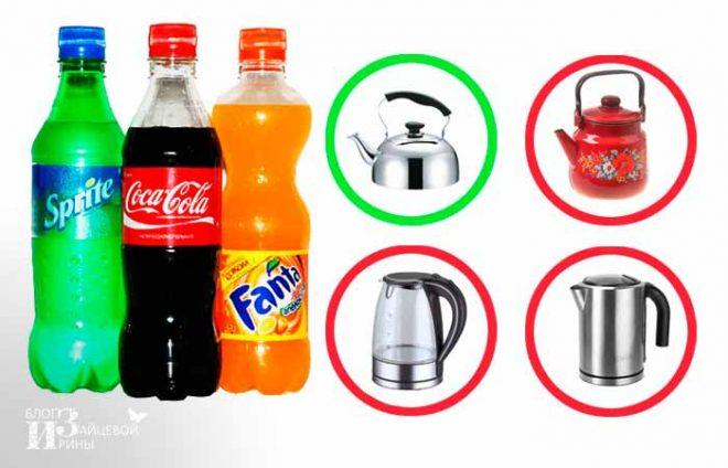 Как почистить чайник от накипи Кока-Колой