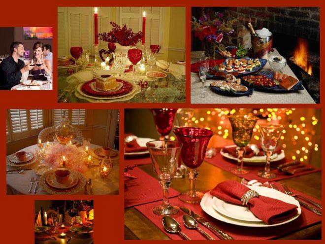 Стол, сервированный для романтического ужина