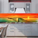 Фартук для кухни: фото, рекомендации дизайнера, обзор материалов
