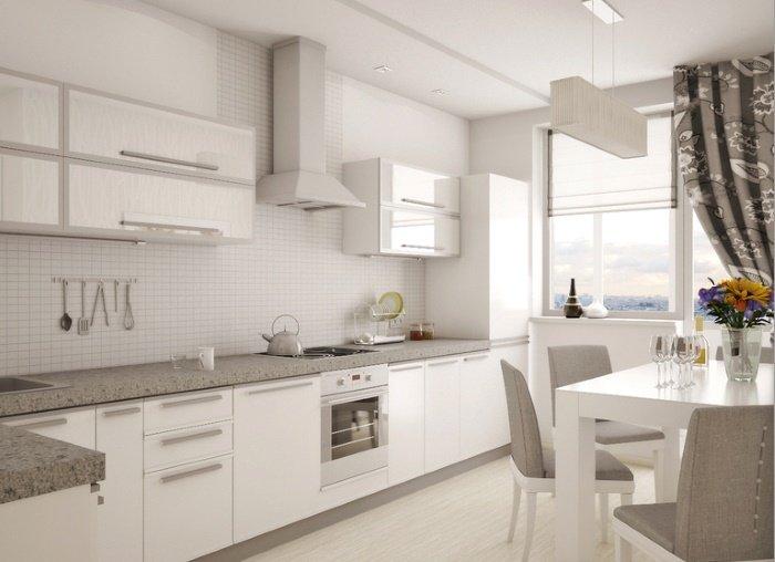фото белых кухонь в интерьере