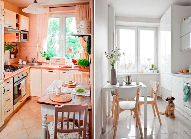 Интерьер маленьких кухонь
