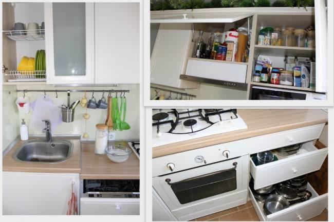 Белые кухонные шкафчики