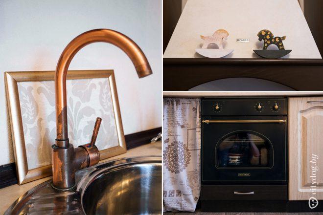 Дизайн кухни 9 кв.м в стиле шебби-шик