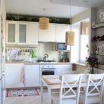 Дизайн бюджетной в скандинавском стиле кухни-гостиной в хрущевке