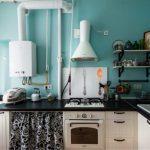 Газовый котел на кухне — 25 примеров, как обыграть в интерьере