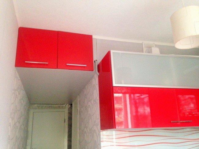 Шкафы красные
