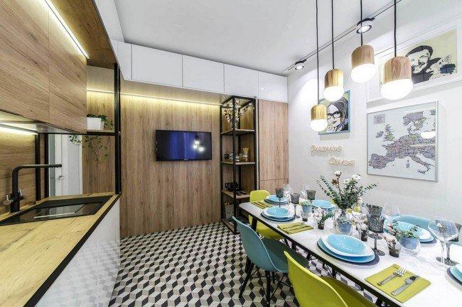 Кухня 13 квадратных метров 3