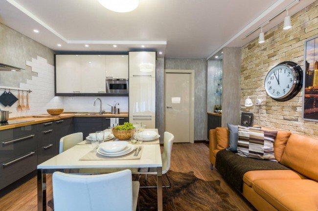 Гостиная и кухня 2