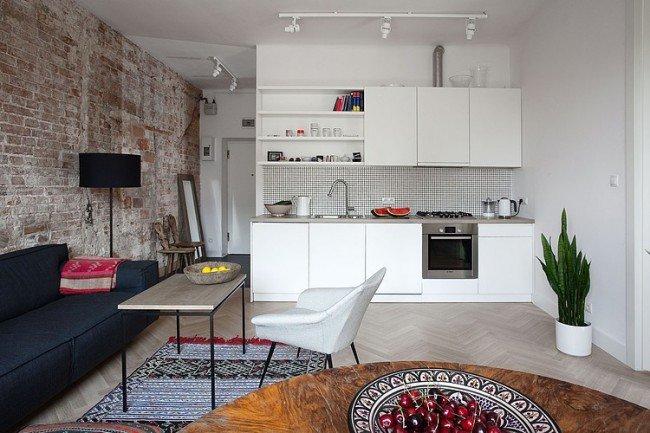 Гостиная, совмещенная с кухней 2