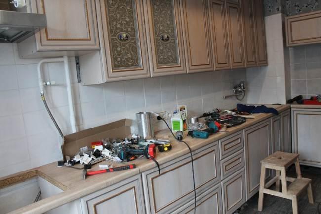 Сборка кухни 5