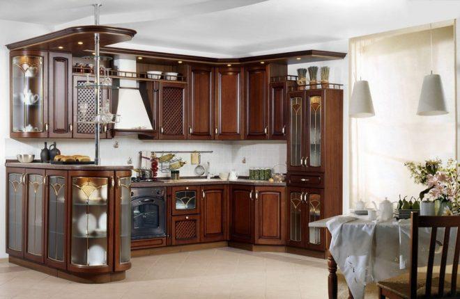 Кухня гостиная в стиле классика