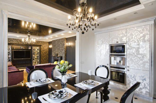 Кухня гостиная в стиле Ар деко