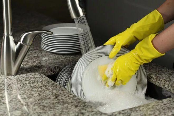 Процесс мытья