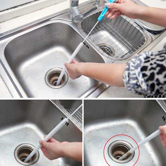 Использование троса для прочистки
