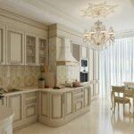 Дизайн кухни в классическом стиле: подбор освещения и мебели, цветовые решения