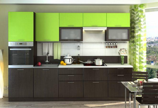 Кухня цвет лайма в стиле модерн