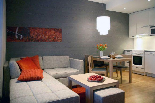 Мебель в кухе гостиной