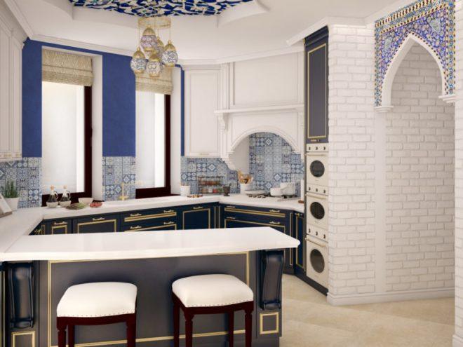 Кухня в восточном стилей