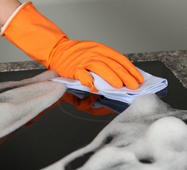 очистить стеклокерамическую плиту в домашних условиях