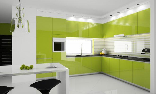 Зеленый и белый