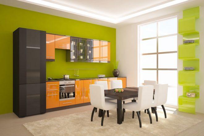 Зеленый и оранжевый