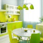 Салатовая кухня в интерьере: фото, лучшие варианты, советы по использованию цвета