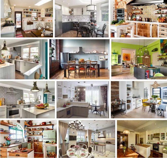 Различный стиль кухонь
