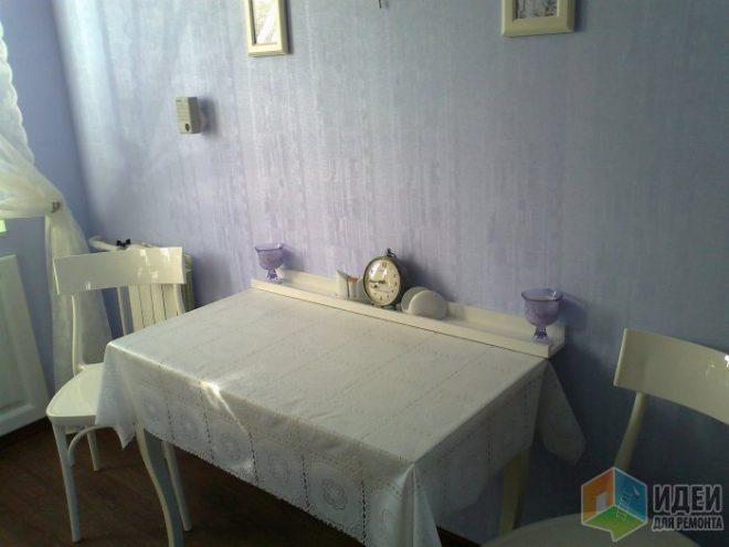 Дизайн прямой белой кухни 8 кв.м