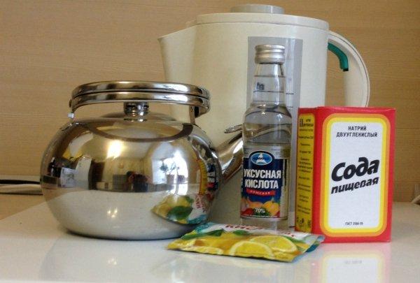 Средства для чистки чайника