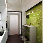 Интерьер маленькой кухни: фото, удачные примеры использования пространства