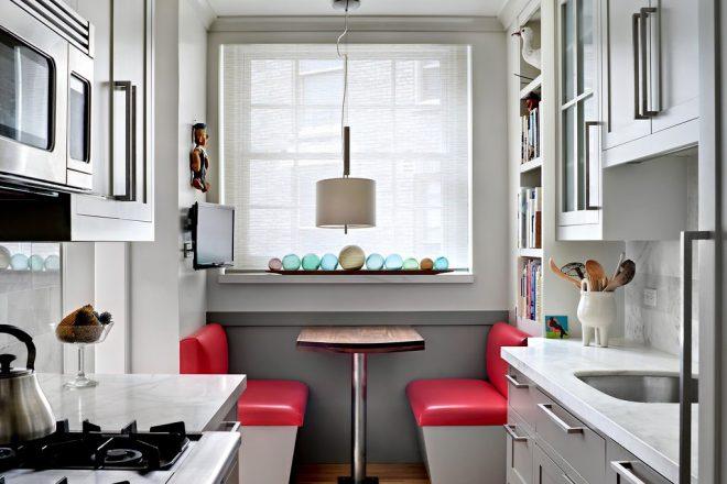 Пространство в маленькой кухне